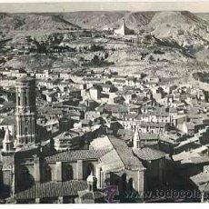 Postales: NAVARRA TUDELA CATEDRAL Y MONUMENTO AL SAGRADO CORAZON ED. AEROPOST. SIN CIRCULAR. Lote 42463700