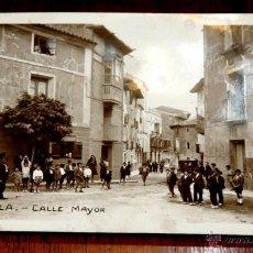 Postales: FOTO POSTAL DE CORELLA, NAVARRA, CALLE MAYOR, FOTOGRAFIA ANIMADA, NO CIRCULADA, ESCRITA EN 1941, NO . Lote 42629435