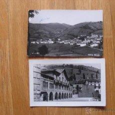 Postales: 2 ANTIGUAS FOTOS O POSTALES DE LEITZA, LEIZA, NAVARRA, LEER. Lote 42647742