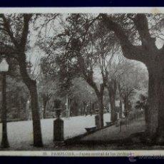 Postales: POSTAL DE PAMPLONA (NAVARRA). PASEO CENTRAL DE LOS JARDINES. EDICIONES ARRIBAS. AÑOS 40. Lote 42781729
