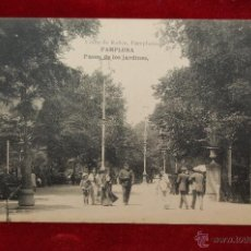 Postales: ANTIGUA POSTAL DE PAMPLONA. PASEO DE LOS JARDINES. HAUSER Y MENET. SIN CIRCULAR. Lote 42873250