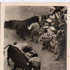 Postales: PAMPLONA (NAVARRA).- ENCIERRO DE LOS TOROS. Lote 43287382