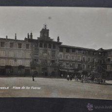 Postales: FOTO POSTAL DE TUDELA. NAVARRA. PLAZA DE LOS FUEROS. SIN CIRCULAR. Lote 43324421