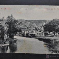 Postales: ANTIGUA POSTAL DE ESTELLA. NAVARRA. PORTAL DE S. AGUSTIN. SIN CIRCULAR. Lote 43325188