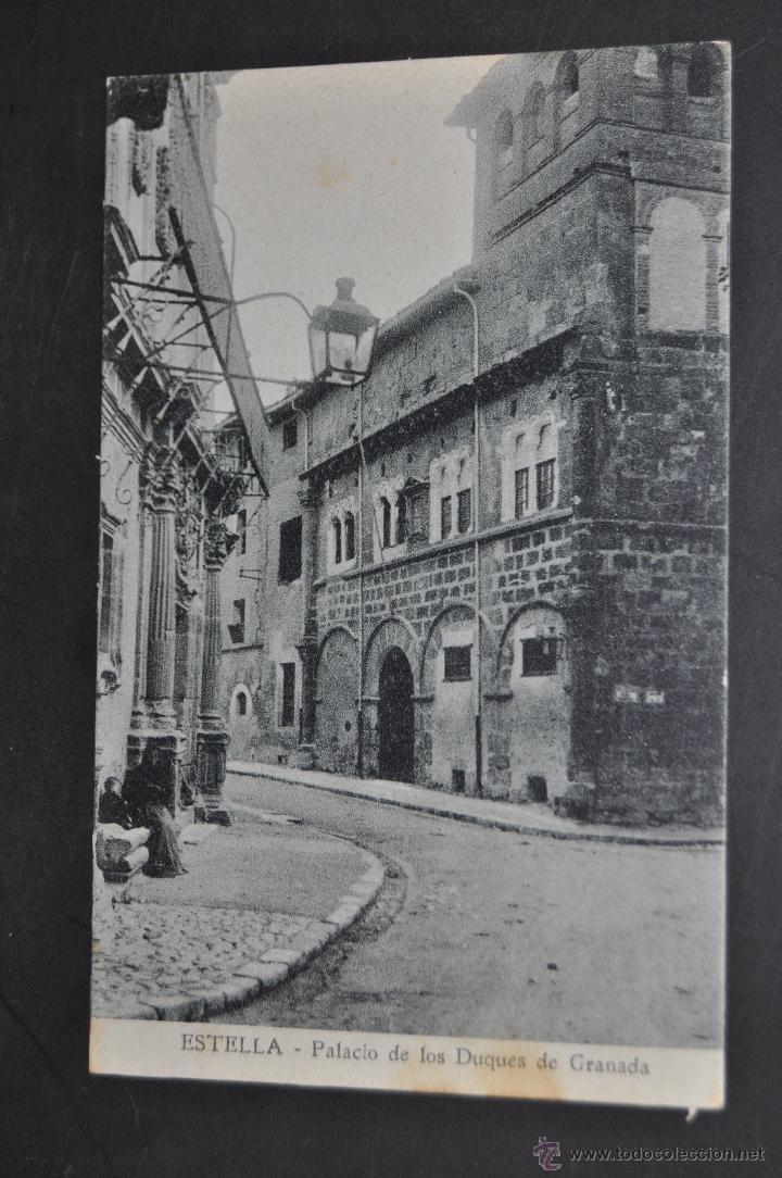 ANTIGUA POSTAL DE ESTELLA. NAVARRA. PALACIO DE LOS DUQUES DE GRANADA. SIN CIRCULAR (Postales - España - Navarra Antigua (hasta 1.939))