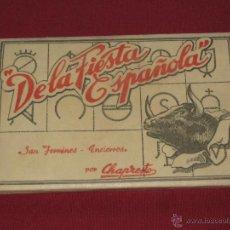 Postales: EXTRAORDINARIO ACORDEON CON DIEZ POSTALES DE LOS ENCIERROS - SAN FERMINES - POR CHAPRESTO . Lote 44289448