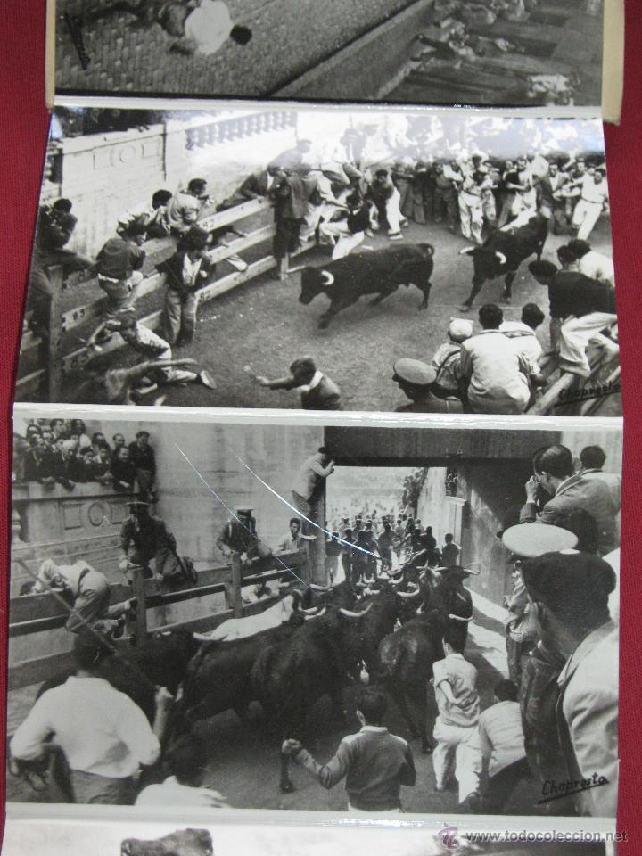 Postales: EXTRAORDINARIO ACORDEON CON DIEZ POSTALES DE LOS ENCIERROS - SAN FERMINES - POR CHAPRESTO - Foto 3 - 44289448