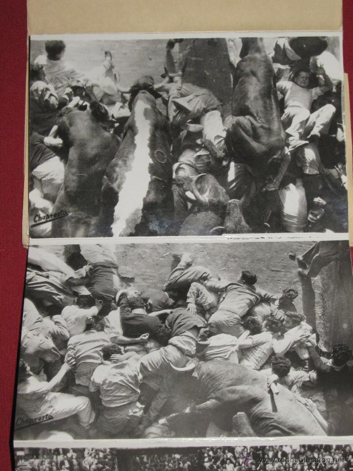 Postales: EXTRAORDINARIO ACORDEON CON DIEZ POSTALES DE LOS ENCIERROS - SAN FERMINES - POR CHAPRESTO - Foto 4 - 44289448