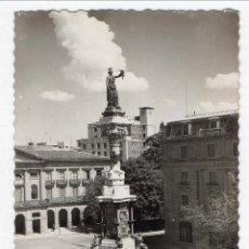 Postales: PAMPLONA. MONUMENTO A LOS FUEROS. FRANQUEADA.. Lote 44599122