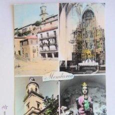 Postales: MENDAVIA. PLAZA DE LOS FUEROS. RETABLO Y PARROQUIA DE SAN JUAN BAUTISTA. NUESTRA SEÑORA DE LEGARDA.. Lote 44968569