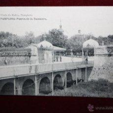 Postales: ANTIGUA POSTAL DE PAMPLONA. NAVARRA. PUERTA DE LA TACONERA. FOTPIA. HAUSER Y MENET. SIN CIRCULAR. Lote 45236757