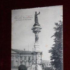Postales: ANTIGUA POSTAL DE PAMPLONA. NAVARRA. MONUMENTO A LOS FUEROS DE NAVARRA. HAUSER Y MENET. SIN CIRCULAR. Lote 45237281