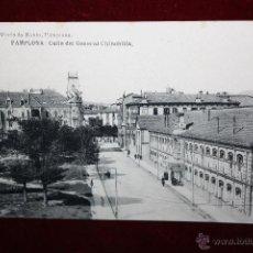 Postales: ANTIGUA POSTAL DE PAMPLONA. NAVARRA. CALLE DEL GENERAL CHINCHILLA. HAUSER Y MENET. SIN CIRCULAR. Lote 45237313