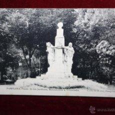 Postales: ANTIGUA POSTAL DE PAMPLONA. PASEO DE LOS JARDINES, MONUMENTO A VILLOSLADA. FOTPIA. HAUSER Y MENET. Lote 45271983