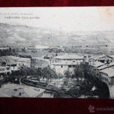 Postales: ANTIGUA POSTAL DE PAMPLONA. NAVARRA. VISTA PARCIAL. FOTPIA. HAUSER Y MENET. SIN CIRCULAR. Lote 45271994