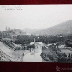 Postales: ANTIGUA POSTAL DE PAMPLONA. NAVARRA. PAISAJE. FOTPIA. HAUSER Y MENET. SIN CIRCULAR. Lote 45272040