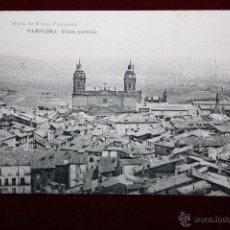 Postales: ANTIGUA POSTAL DE PAMPLONA. NAVARRA. VISTA PARCIAL. FOTPIA. HAUSER Y MENET. SIN CIRCULAR. Lote 45272074