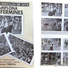 Postales: 24 TARGETAS POSTALES DE PAMPLONA TOROS SANFERMINES EDITORIAL TXERTOA PARA ENVIAR O GUARDAR. Lote 45519237