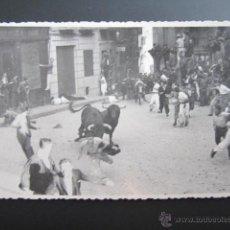 Postales: FOTO POSTAL PAMPLONA. ENCIERROS DE SAN FERMIN.. Lote 45592555