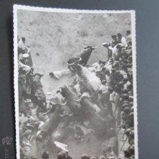 Postales: FOTO POSTAL PAMPLONA. ENCIERROS DE SAN FERMIN.. Lote 45592568