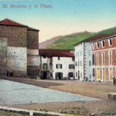 Postales: PS4914 ECHALAR 'EL FRONTÓN Y LA PLAZA'. A. ECHAIDE. CENSURA MILITAR. 1939. Lote 45795228