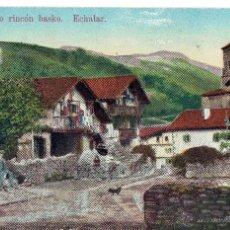 Postales: PS4918 ECHALAR 'TÍPICO RINCÓN BASKO'. A. ECHAIDE. CENSURA MILITAR. 1939. Lote 45795544