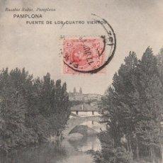 Postales: Nº 16294 POSTAL PAMPLONA PUENTE DE LOS CUATRO VIENTOS. Lote 46140229