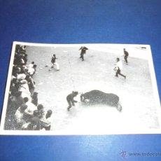 Postales: TOROS - PAMPLONA ENCIERROS POSTAL FOTOGRAFICA J. GALLE FOTGR. PAMPLONA 14X9 CM. AÑOS 50/60 . Lote 46296695