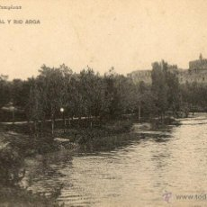 Postales: ANTIGUA POSTAL PAMPLONA-CATEDRAL Y RIO ARGA. Lote 46319949