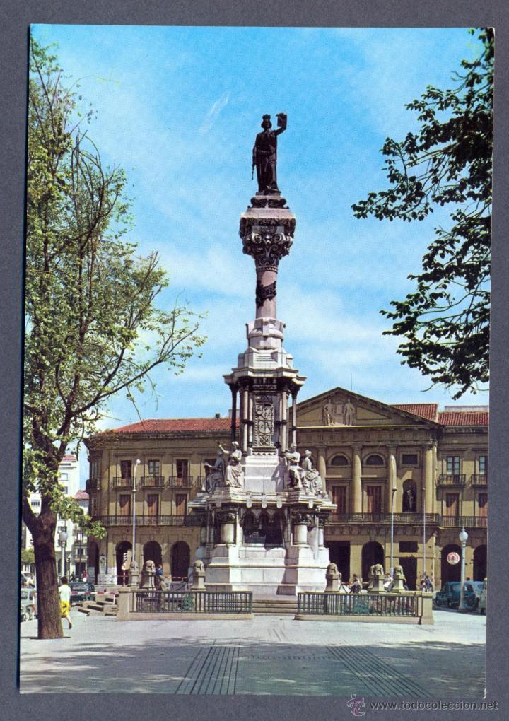 PAMPLONA. MONUMENTO A LOS FUEROS DE NAVARRA (Postales - España - Navarra Moderna (desde 1.940))