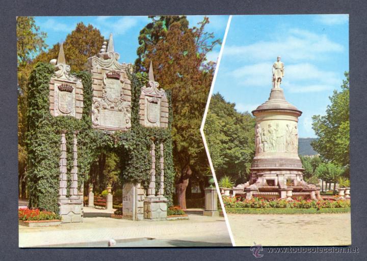 PAMPLONA. JARDINES DE LA TACONERA Y MONUMENTO A GAYARRE (Postales - España - Navarra Moderna (desde 1.940))