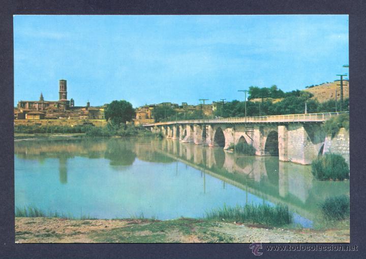 TUDELA. PUENTE ROMANICO SOBRE EL RIO EBRO. (Postales - España - Navarra Moderna (desde 1.940))