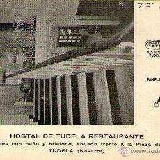 Postales: TUDELA - HOSTAL DE TUDELA RESTAURANTE. Lote 46507606