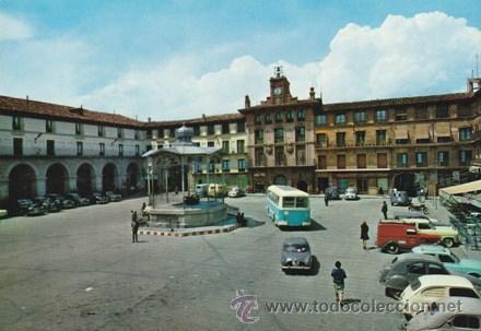 TUDELA - PLAZA DE LOS FUEROS - KIOSCO - COCHES DE LA EPOCA - RELOJ -Nº 133 -ED.PARIS AÑO 1964 ESCRIT (Postales - España - Navarra Moderna (desde 1.940))