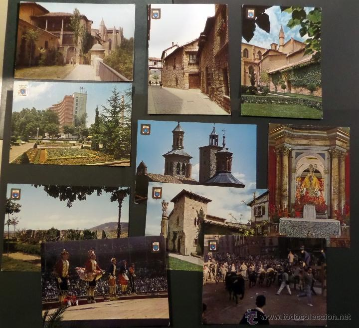 PAMPLONA, LOTE DE 10 POSTALES SIN CIRCULAR DE LOS AÑOS 60. (Postales - España - Navarra Moderna (desde 1.940))