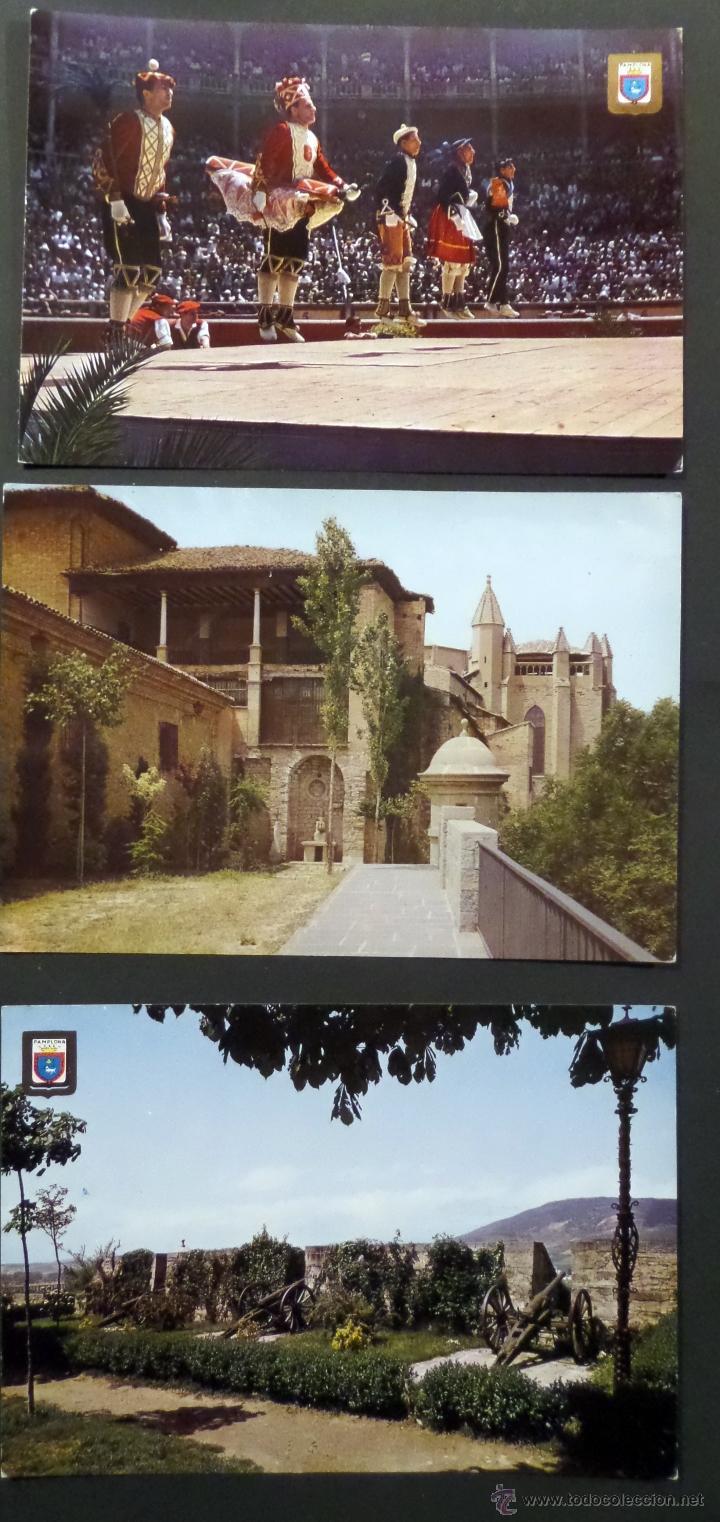 Postales: Pamplona, lote de 10 Postales sin circular de los años 60. - Foto 3 - 46831955