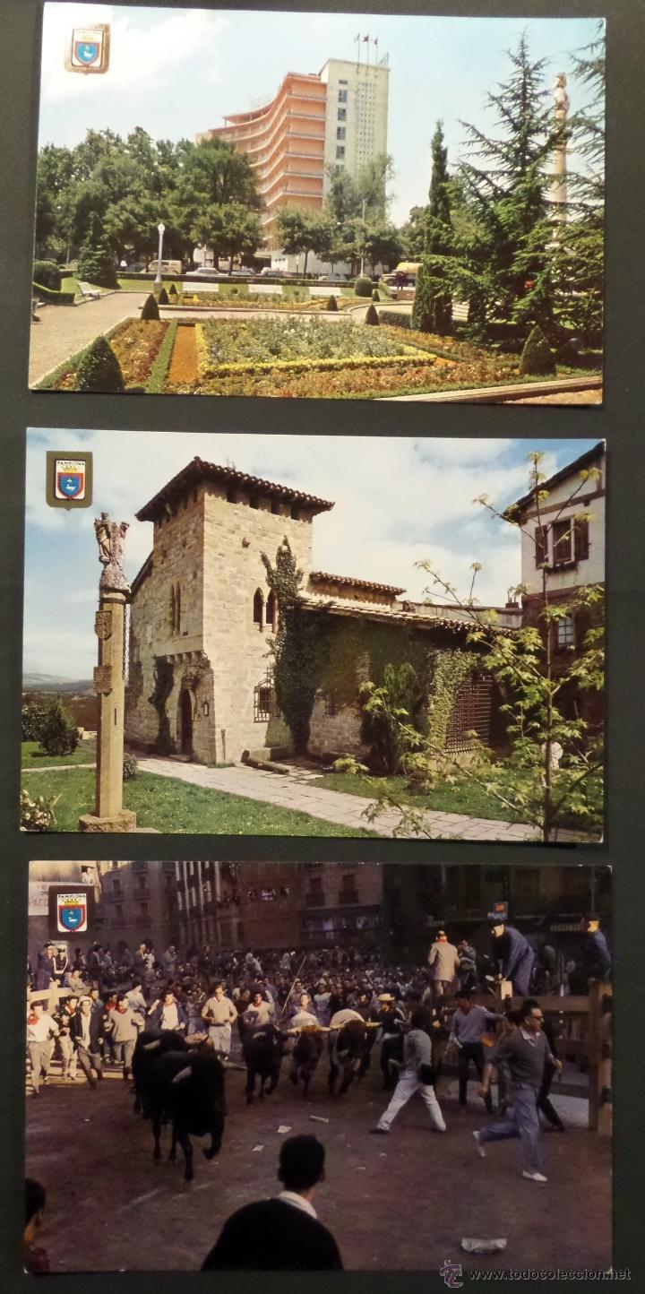 Postales: Pamplona, lote de 10 Postales sin circular de los años 60. - Foto 4 - 46831955