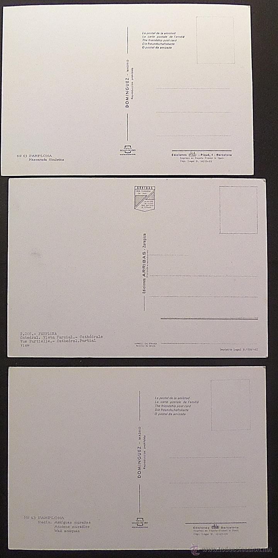 Postales: Pamplona, lote de 10 Postales sin circular de los años 60. - Foto 5 - 46831955