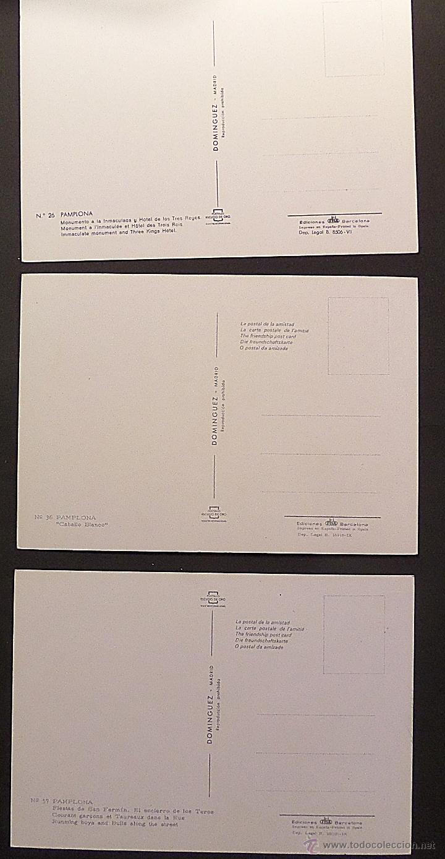 Postales: Pamplona, lote de 10 Postales sin circular de los años 60. - Foto 7 - 46831955