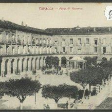 Postales: TAFALLA - PLAZA DE NAVARRA - VDA· DE J.ABAURREA - (28062). Lote 47082412