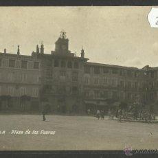 Postales: TUDELA - PLAZA DE LOS FUEROS - FOTOGRAFICA - (28063). Lote 47082425