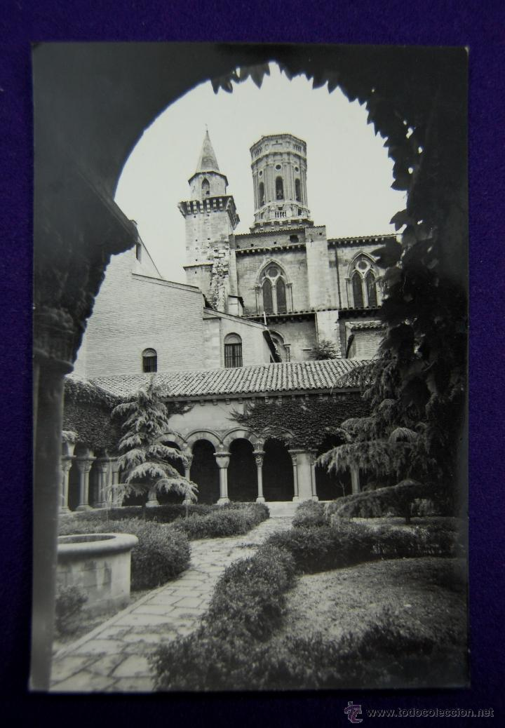 POSTAL DE TUDELA (NAVARRA). Nº35 CLAUSTROS Y JARDINES DE LA CATEDRAL. ED.PARIS (ZARAGOZA). AÑOS 50. (Postales - España - Navarra Moderna (desde 1.940))
