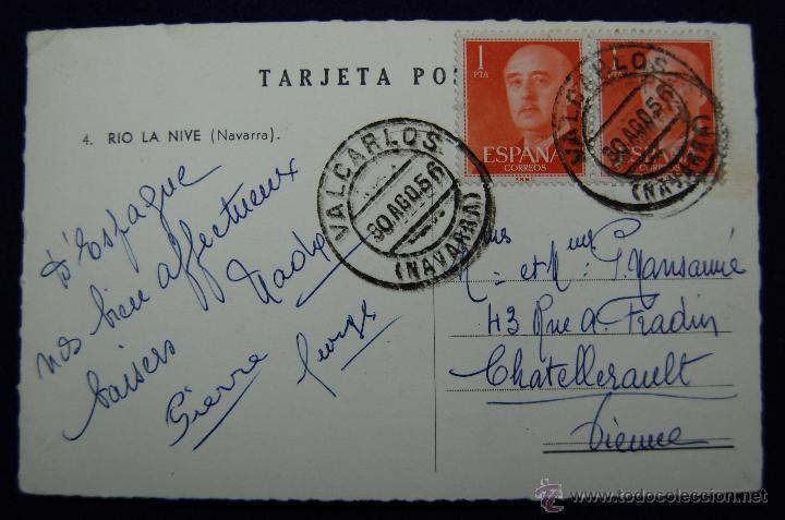 Postales: POSTAL DE RIO LA NIVE (NAVARRA). Nº4. SIN EDITOR. AÑOS 50 - Foto 2 - 47268239