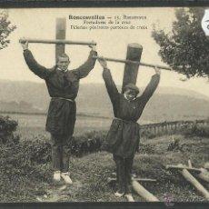 Postales: RONCESVALLES - PORTADORES DE LA CRUZ - (ZB- 201). Lote 47344848