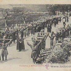 Postales: ROCESVALLES, PROCESIÓN DE SEMANA SANTA, EDITADA POR ERGUY (FRANCIA). Lote 48035181