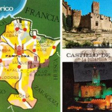 Postais: POSTAL - NAVARRA - CASTILLO XAVIER MAPA - ESCUDO ORO - NO CIRCULADA. Lote 48356659