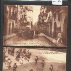 Postales: PAMPLONA - IRUÑA - TOROS - CORRIDA DE TOROS - ENCIERRO - 25 POSTALES - VER FOTOS - (ZB-1756). Lote 48493368