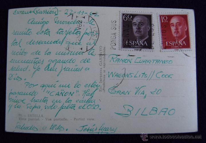 Postales: POSTAL DE ESTELLA (NAVARRA). Nº71 VISTA PARCIAL. AÑOS 50. - Foto 2 - 49657544