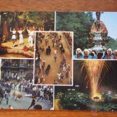 Postales: POSTAL DE NAVARRA. AÑO 1970. PAMPLONA, SANFERMINES, PROCESION SAN FERMIN, ENCIERROS. . Lote 50940428