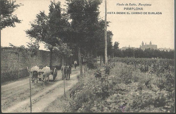 TARJETA POSTAL DE PAMPLONA - VISTA DESDE EL CAMINO DE BURLADA (Postales - España - Navarra Antigua (hasta 1.939))
